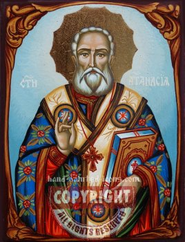 St Athanasius The Great of Alexandria- hand-painted icon