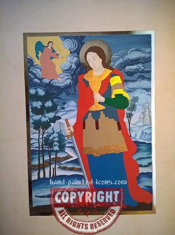 7. Icon process -Gilding and laying of primary colors-02