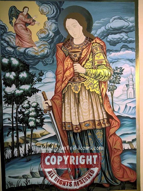 8. Orthodox Byzantine icon- painting process-01