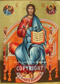 Christ Enthroned In Glory-hand-painted-icon-40x30cm