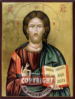 Christ Pantocrator-v2-hand-painted-icon.