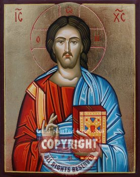 Christ Pantocrator-v5-hand-painted-icon