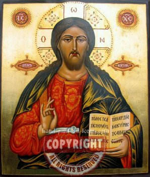 Christ Pantocrator-v6-hand-painted-icon