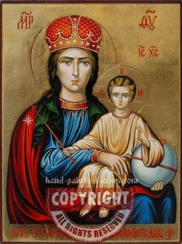 Prezhde Rozhdestva i po Rozhdestve Deva-hand-painted-icon