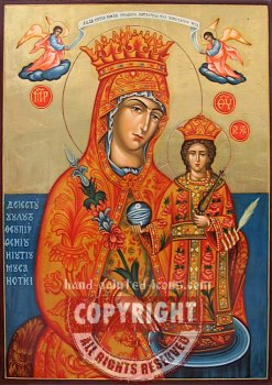 The Holy Mother -the unfading rose-hand-painted-icon