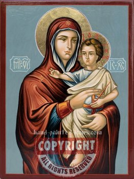 The Holy Virgin Daskotna-hand-painted-icon