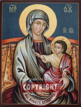 The Holy Virgin Hodegetria-Malta-wall-painting