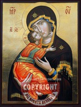 Theotokos of Vladimirovsk-v1-hand-painted-icon