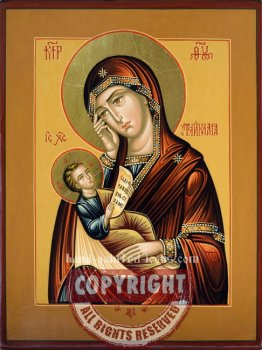 The Holy Virgin-Soothe my sorrows-hand-painted-icon