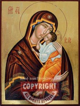 Mother of God of Yaroslavl-Yaroslavskaya-hand-painted-icon