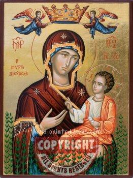 Panagia Myrtidiotissa-hand-painted-icon-v1