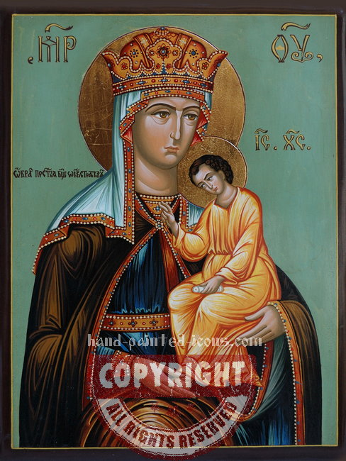 Тhe Virgin Mary - Helping the suffering-hand-painted-icon