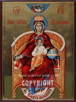 Our Lady Derzhavnaya (The Sovereign)-hand-painted-icon-V1