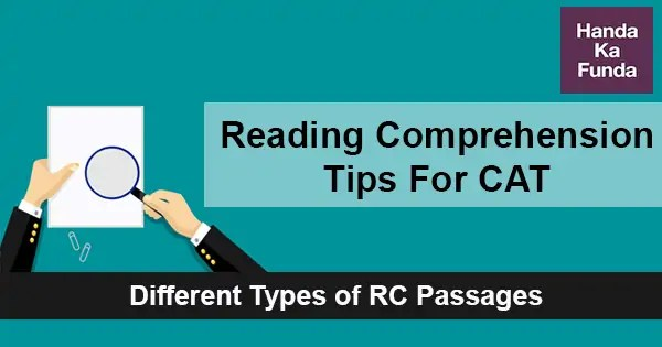 Reading Comprehension Tips For Cat  Different Types Of Rc Passages  Handa Ka Funda  Online