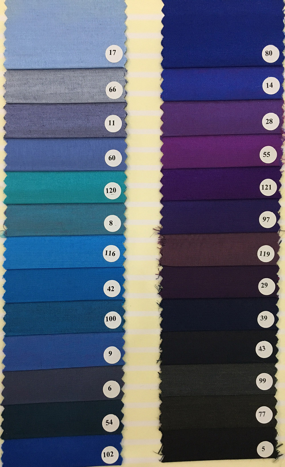 Textile Color Chart Of Silk Linen Satin Ribbon Hemp