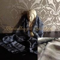 Hand-Woven Modern Dark Gray Thai Silk Shawls - Handbag ...