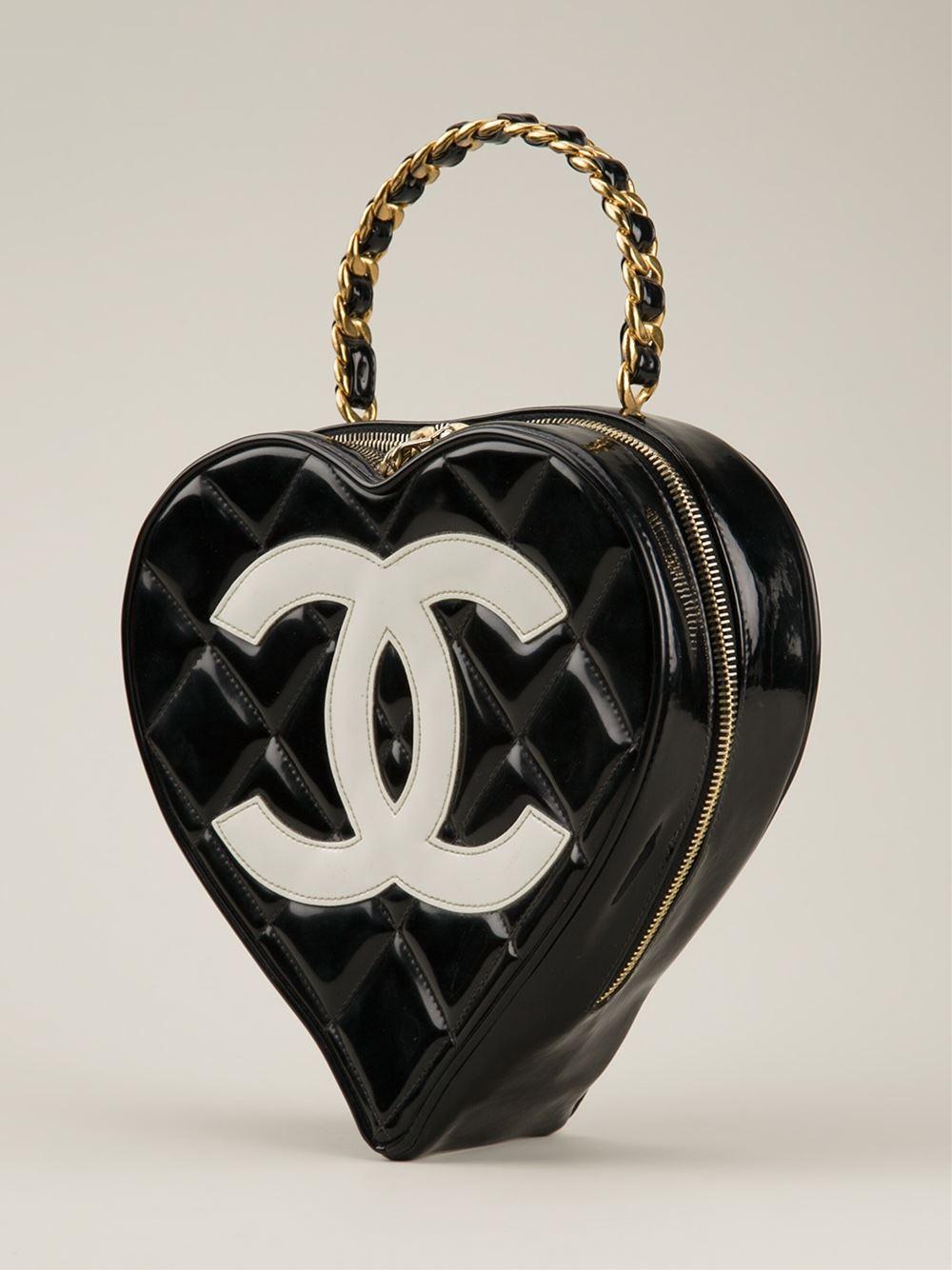 Splurge Du Jour Chanel Vintage Heart Shaped Tote