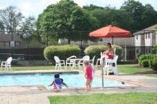 Kids having fun at the pool