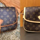 louis vuitton lv vachetta leather replacement before after