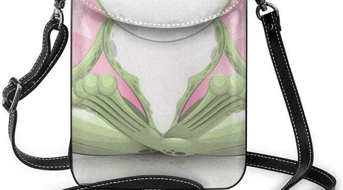 Crossbody Cell Phone Purse Cute Funny Frog Doing Yoga Small Crossbody Bags Women Pu Shoulder Bag Handbag