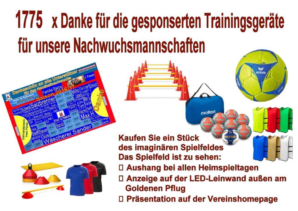 imaginaren spielfeld ist voll unterstutzung fur den handballnachwuchs sv aufbau altenburg sport in der skatstadt