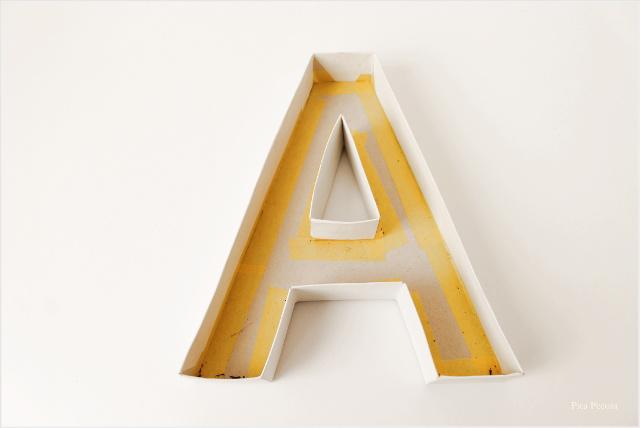 Aprende cómo hacer letras 3D con una caja de cereal que ya no uses Soy Curioso