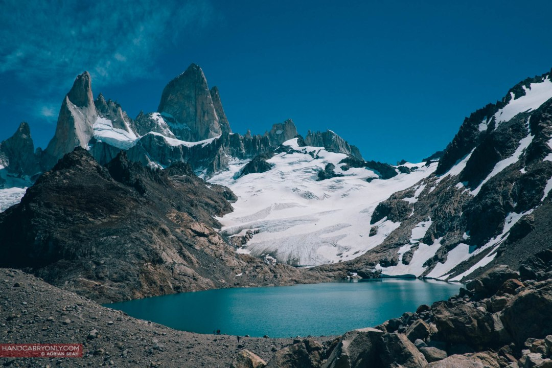 the view at the top, fitz roy el chalten patagonia argentina