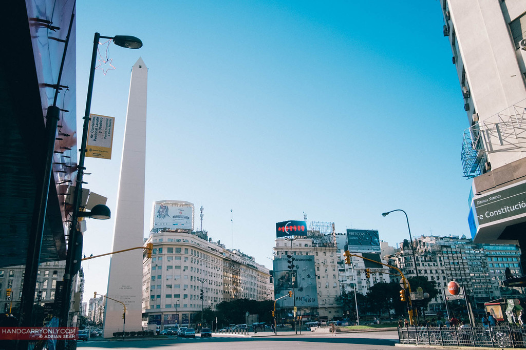 The Obelisco de Buenos Aires is the unofficial centre of the capital, buenos aires, argentina