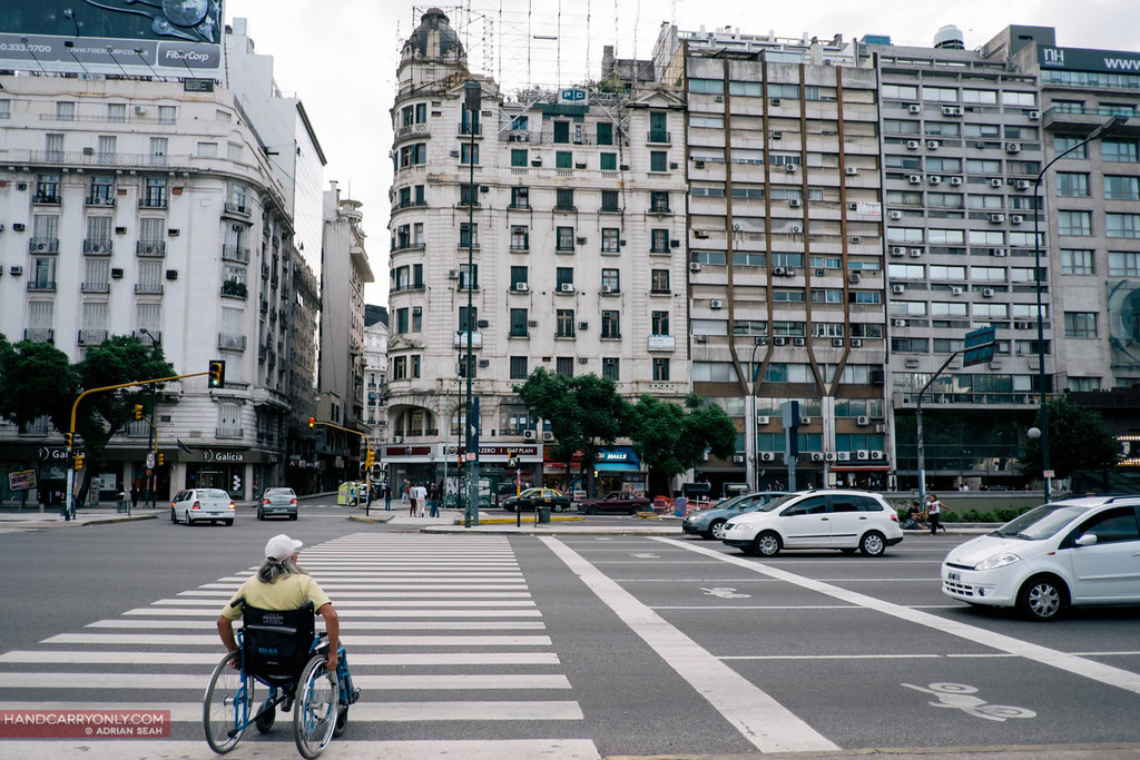 Wide avenues criss cross the Capital Federal, buenos aires, argentina