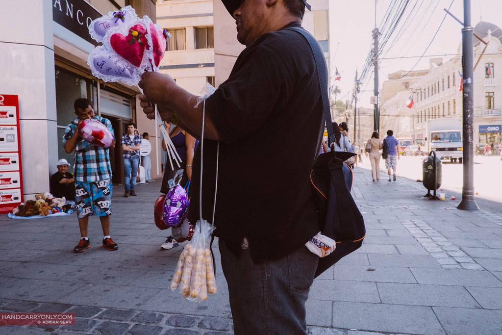 valentines day balloon seller valparaiso chile