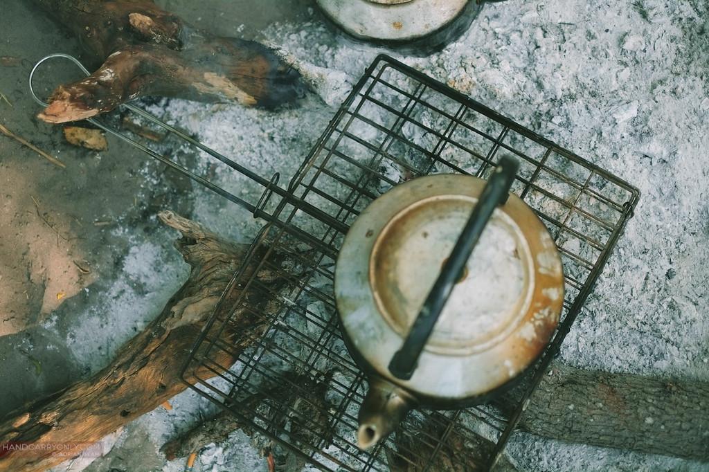 kettle on wood fire okavango delta