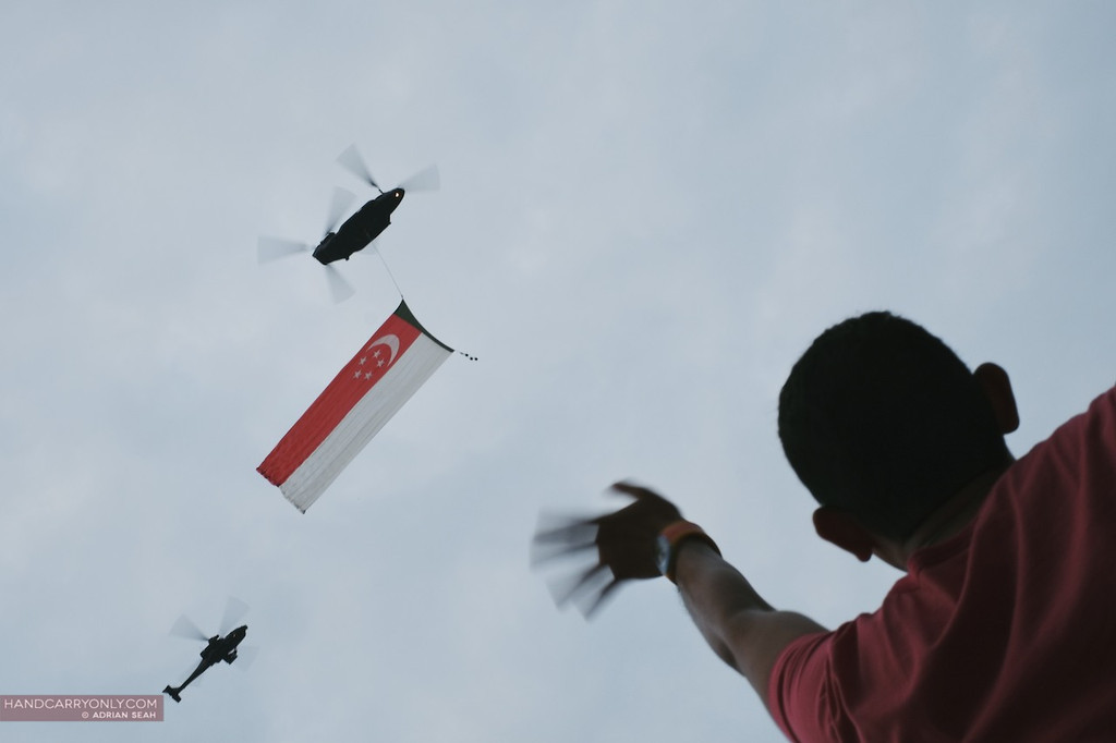 pinkdot singapore helicopter flypast