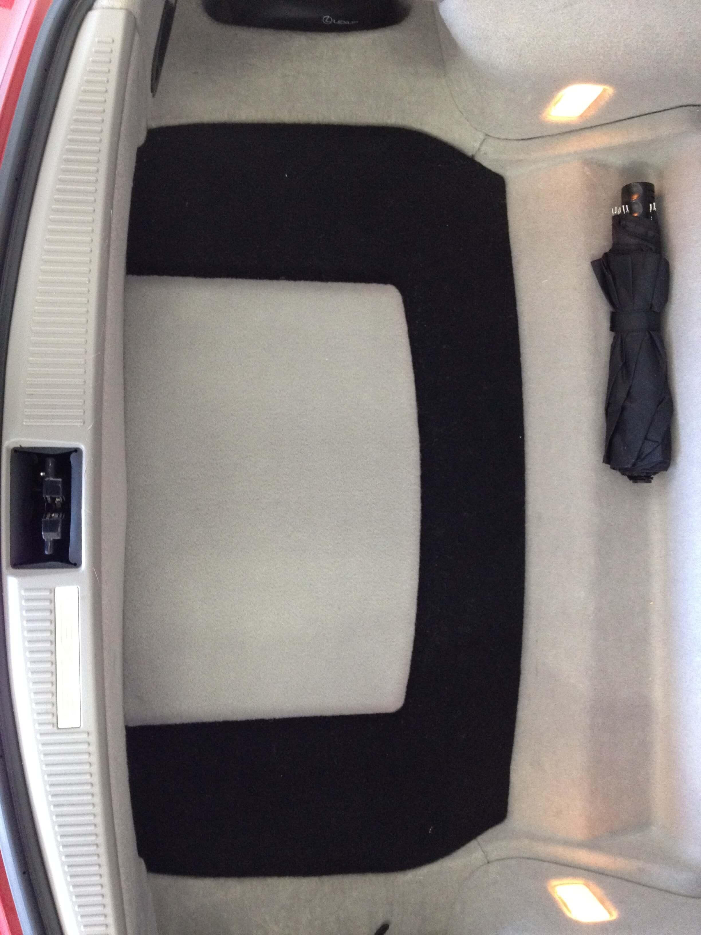 2008 Lexus SC430 gets a custom subwoofer enclosure, amplifier and