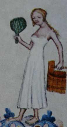 The Bathhouse Attendant, Bible of Wenceslaus IV., 1389