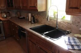 Chocolate granite sink