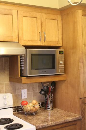 Microwave shelf unit