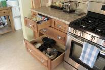 Oversized drawer storage