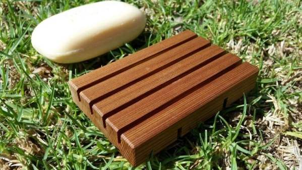 Photo of a Soap Holder Rack made from Cedar