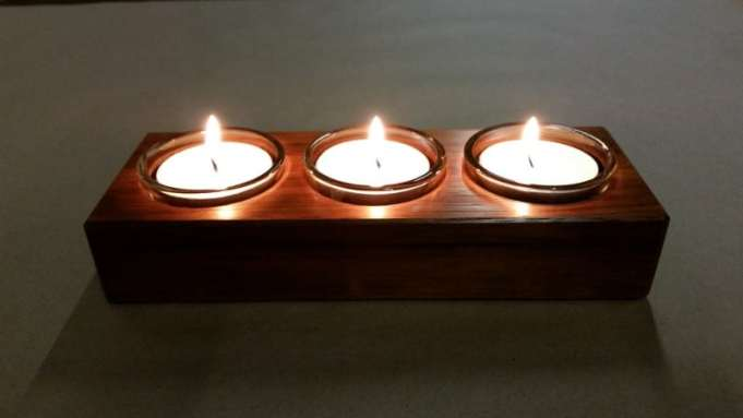 tealight-candle-3-tas-oak-with-glass-inserts-in-use-lit-flame-1-AustralianWorkshopCreations-shop