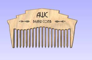 Simulation of beard comb design