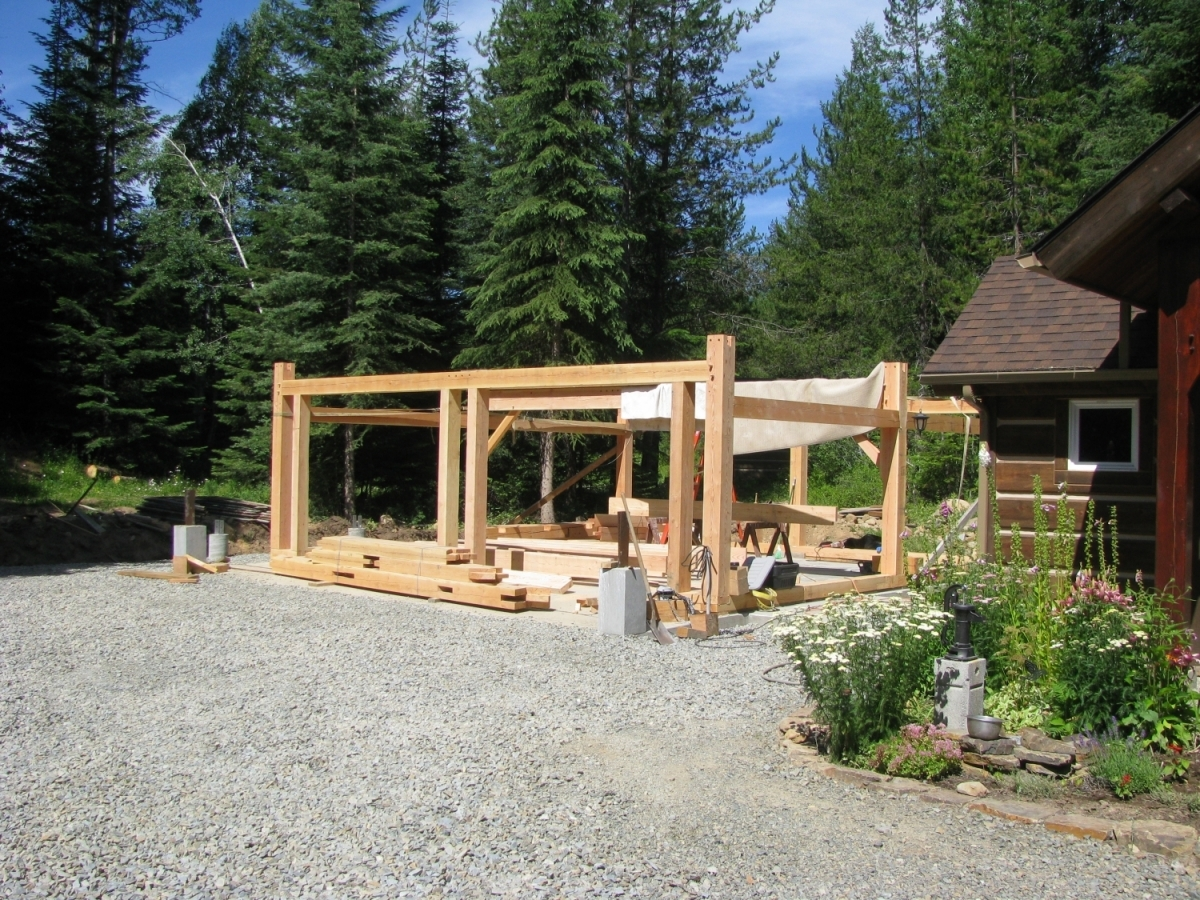 Timber Frame Garage  Handcrafted Wood