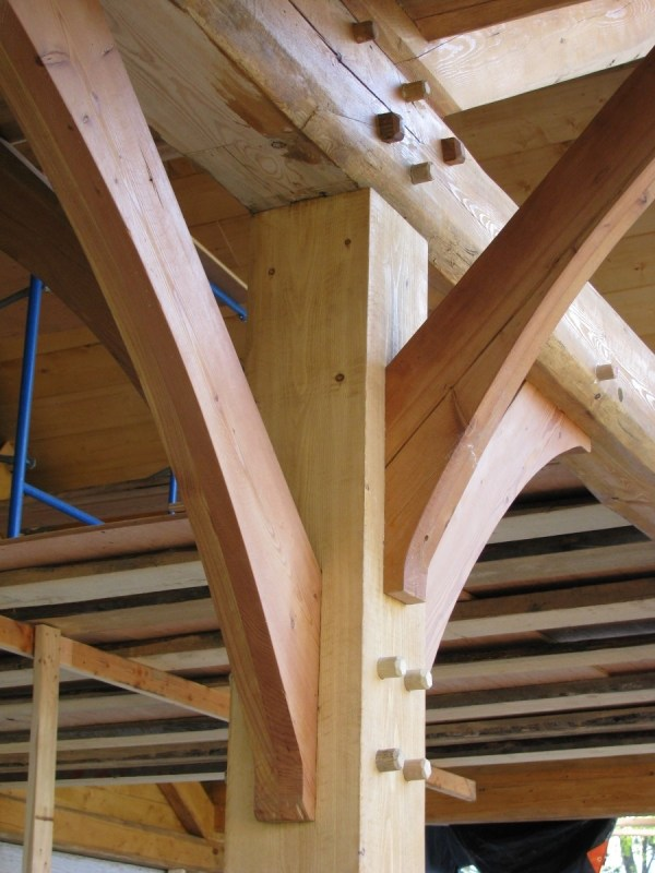 Timber Frame Remodel And Addition - Handcrafted Wood
