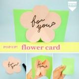 【飛び出すカード】大きなお花がパッと咲く❤︎カードの作り方
