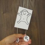 【簡単ストローおもちゃ】のぼり人形の作り方