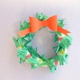 材料3つで簡単&かわいい!画用紙で作る「クリスマスリース」