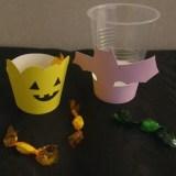【ハロウィン工作】紙コップで作る♪お菓子入れ&カップマーカー
