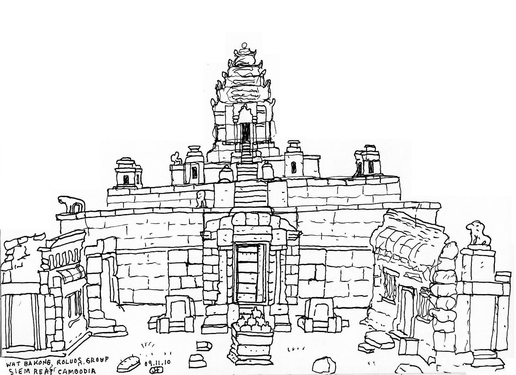 Angkor Wat Gallery Handdrawnjonathan