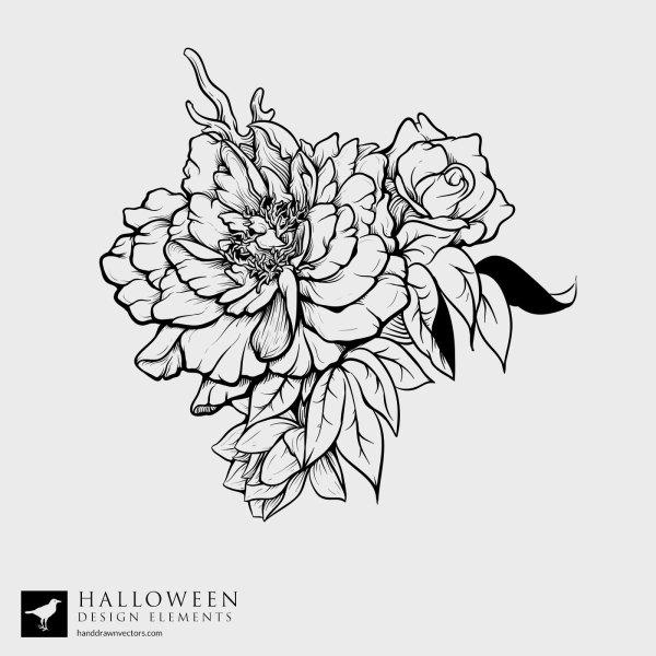 Flowers-Halloween-Vector