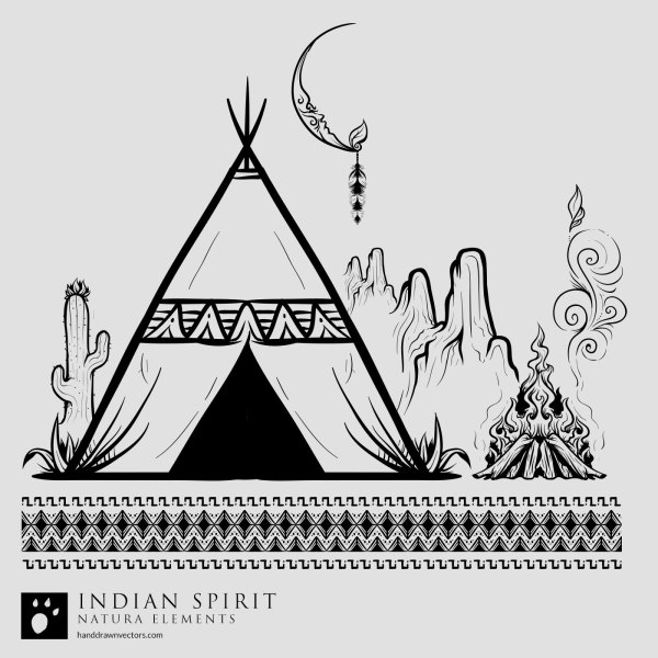 Indian-Desert-Night-Vector
