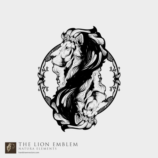 Lion-Head-Black-White-Vector